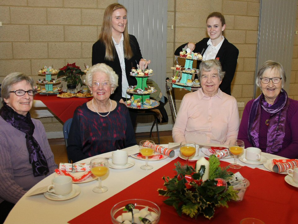 Caring students serve up a senior citizens Xmas tea