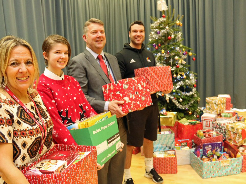 Pupils ensure festive cheer is shared across their town.