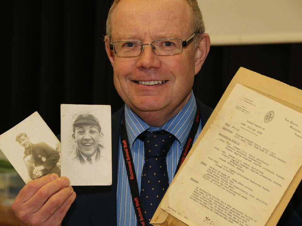 Great Escape veteran's memorabilia is returned to Richmond School and Sixth Form