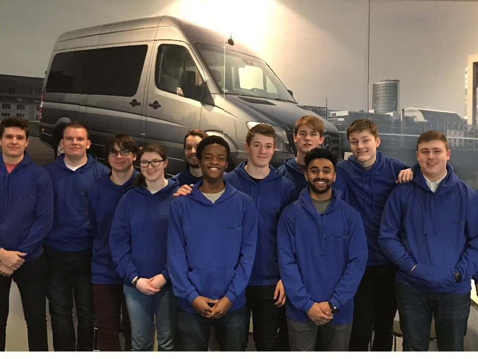 Young engineers from Darlington College visit German manufacturing plants