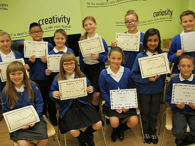 Pupils take part in university programme.