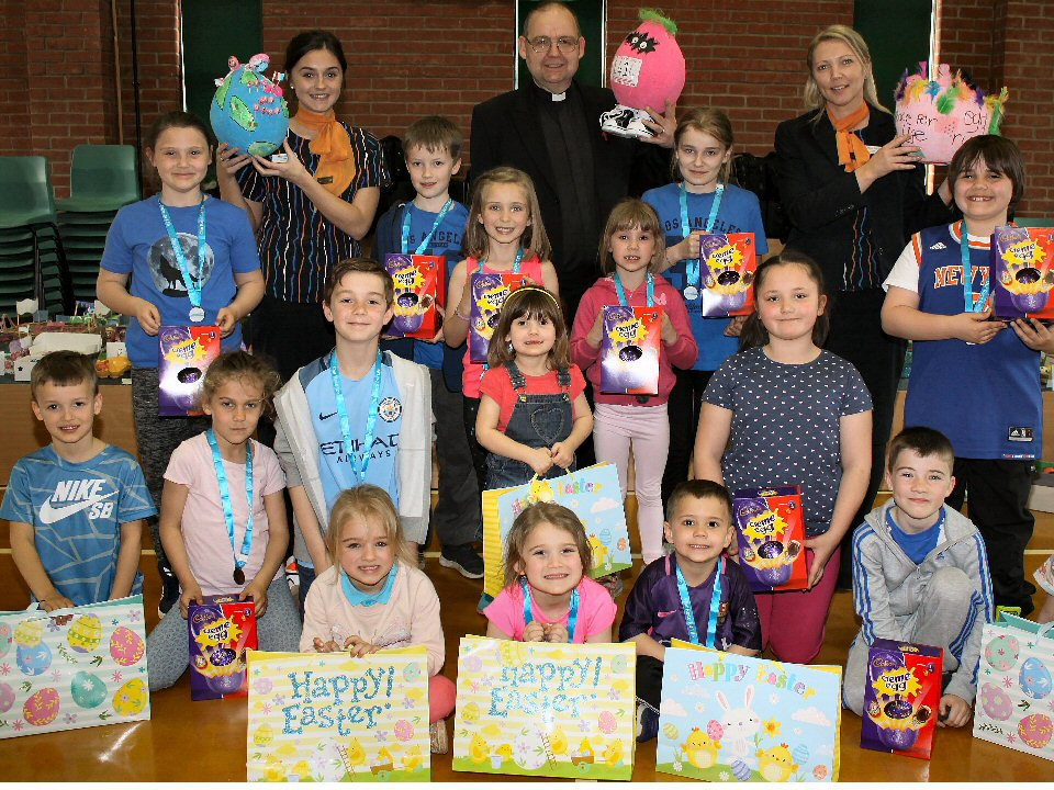 Pupils at West Park Academy, Darlington, scrambled to produce a winning  egg design