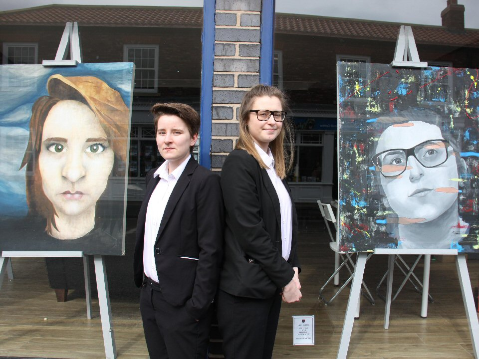 Trinity Academy students create art tour of work with their own 'Tate gallery'.