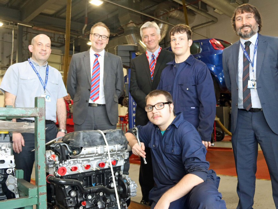 Darlington College apprentices learn their trade with GM engines