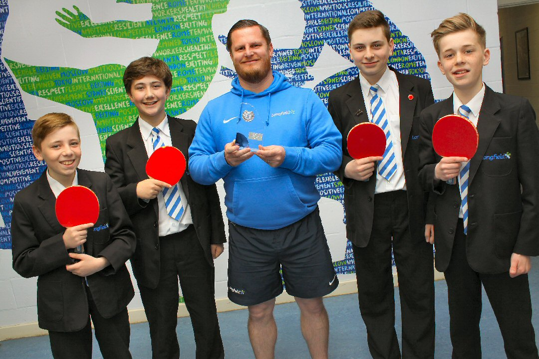 Longfield Academy of Sport table tennis team add a further accolade to its list of achievements