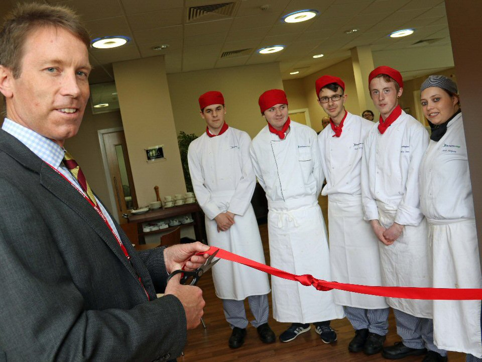 Doors were reopened at The Glasshouse, Darlington College's restaurant