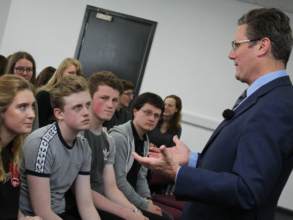 Sixth Formers at Carmel College, Darlington, play host to Labour shadow Brexit secretary