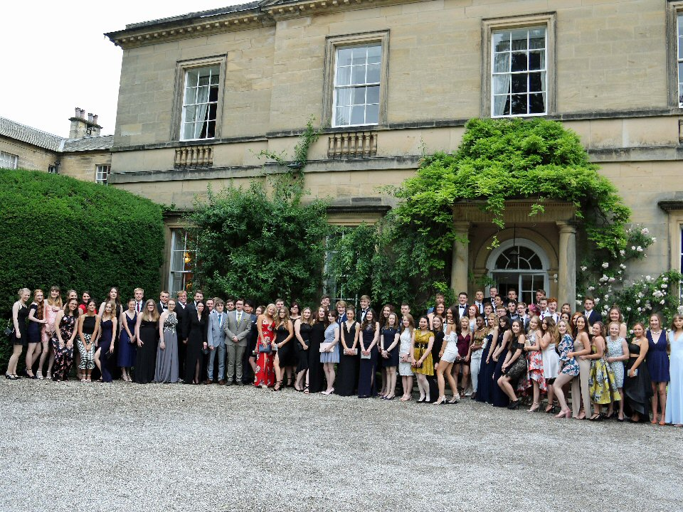 Richmond School and Sixth Form College students celebrate the end of their college days