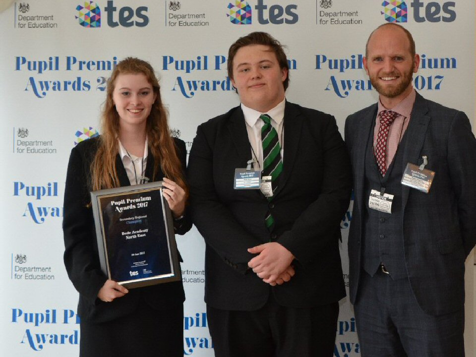 Bede Academy has been designated Regional Champion for the North East in the Pupil Premium Awards 2017
