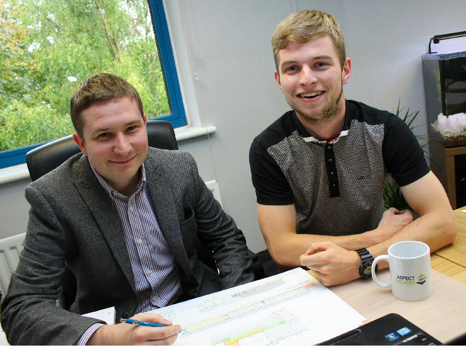Darlington College student Matthew Frost is appointed trainee project manager with Shildon-based firm Aspect Facades