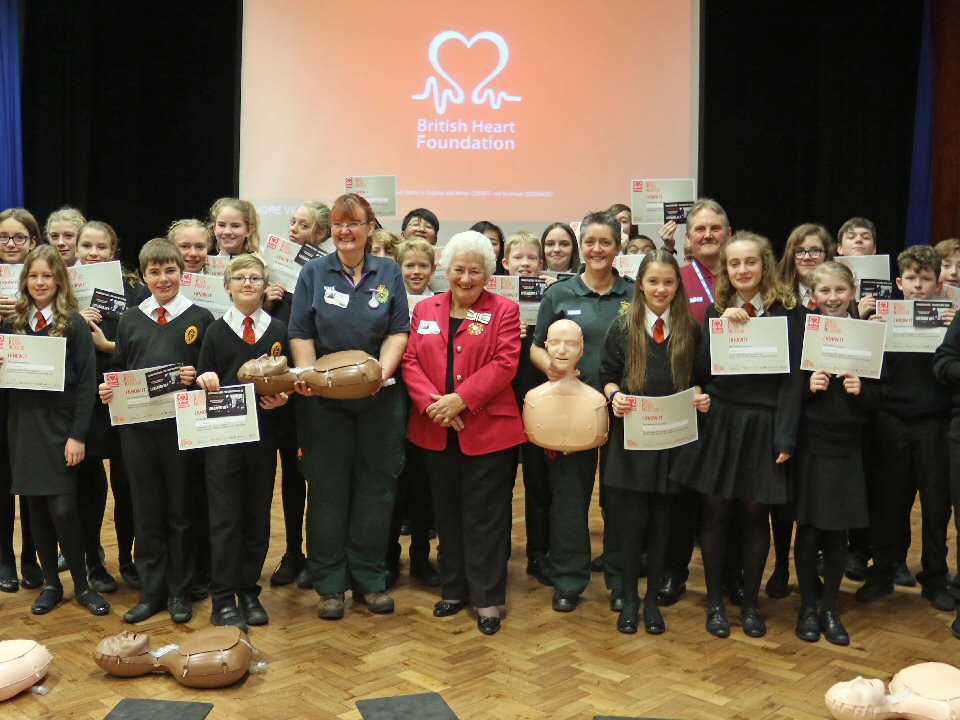 Richmond School and Sixth Form College students learn life saving skills