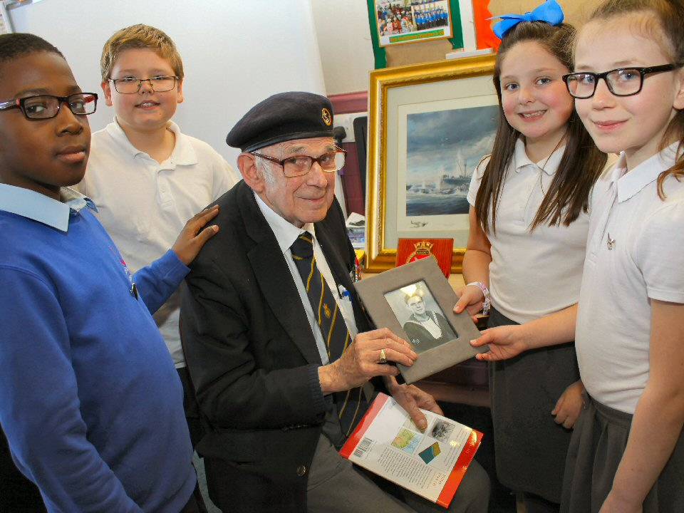 Pupils hear first-hand account of veteran's role in the D-Day landings