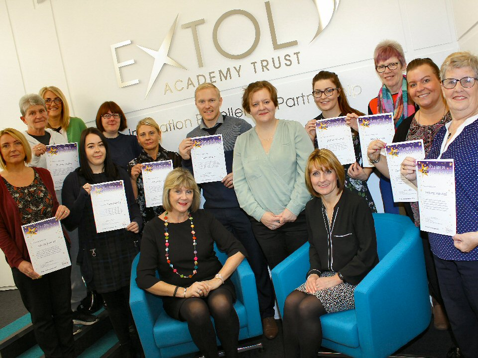 Non-teaching staff at Eldon Grove Academy receive Stars in our Schools awards