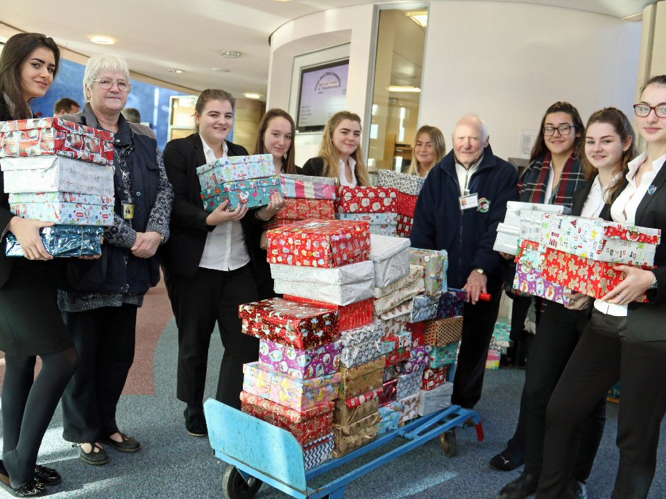 Students have been boxing clever to bring festive cheer to under-privileged children