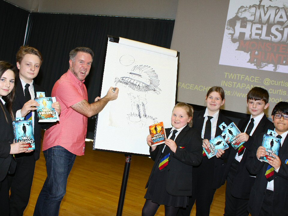Celebrated animator Curtis Jobling shared the secrets of his successful career with pupils at Haughton Academy