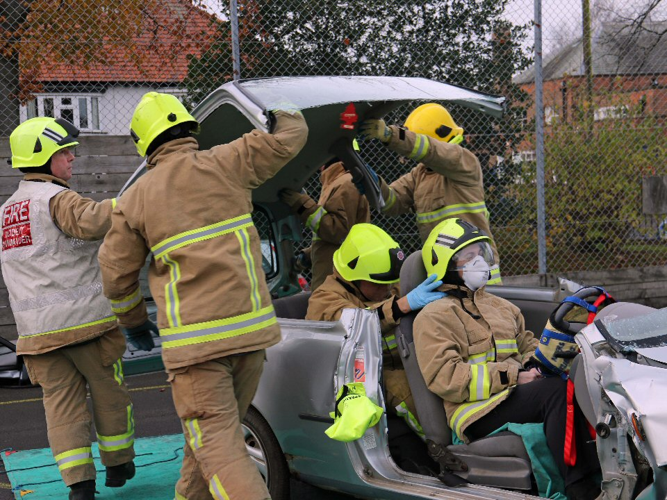 Northallerton School and Sixth Form College students get advice on safe driving habits