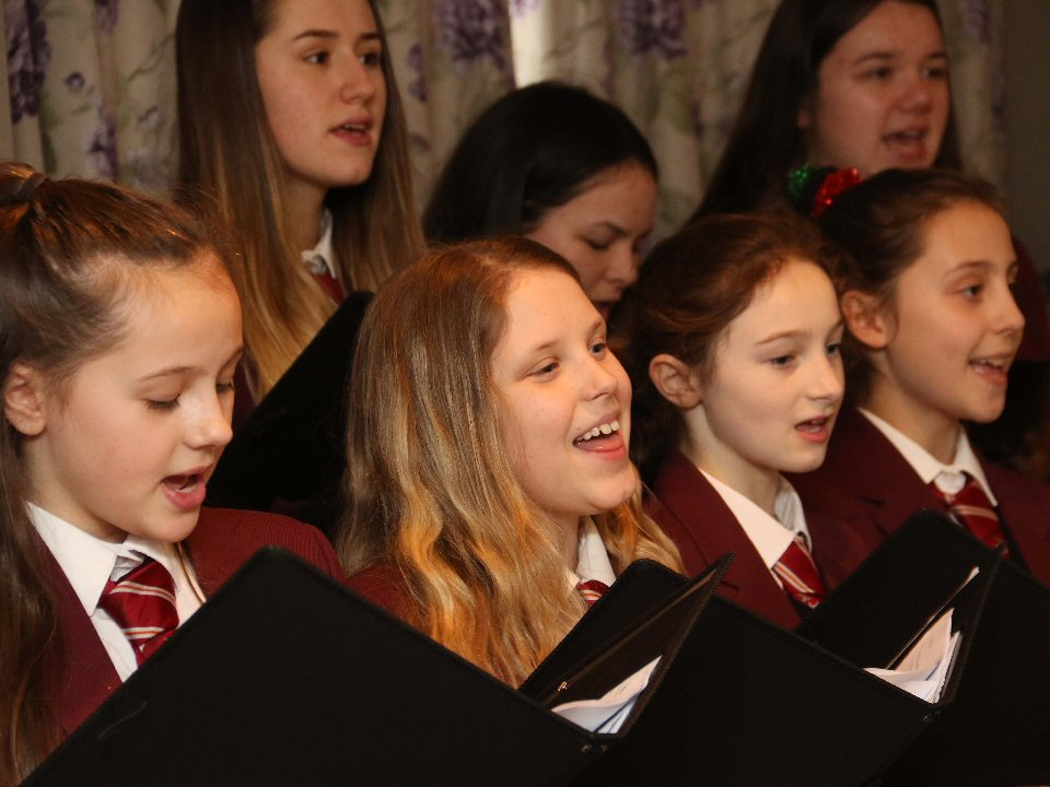 St John's School and Sixth Form College choir spread festive cheer