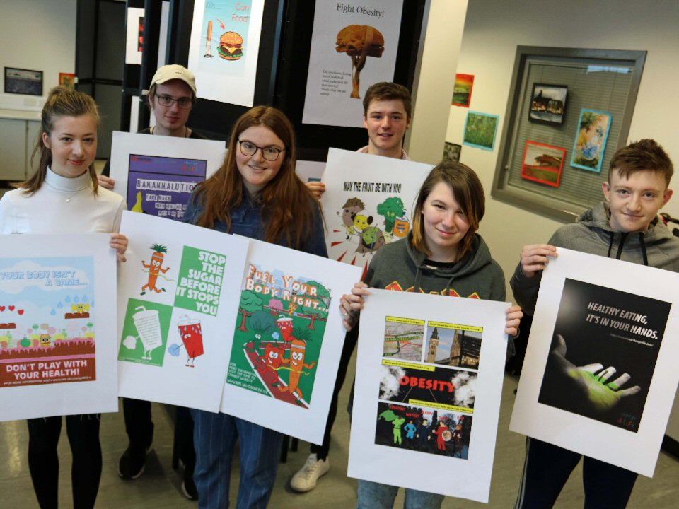 Darlington College students promote healthy eating campaign