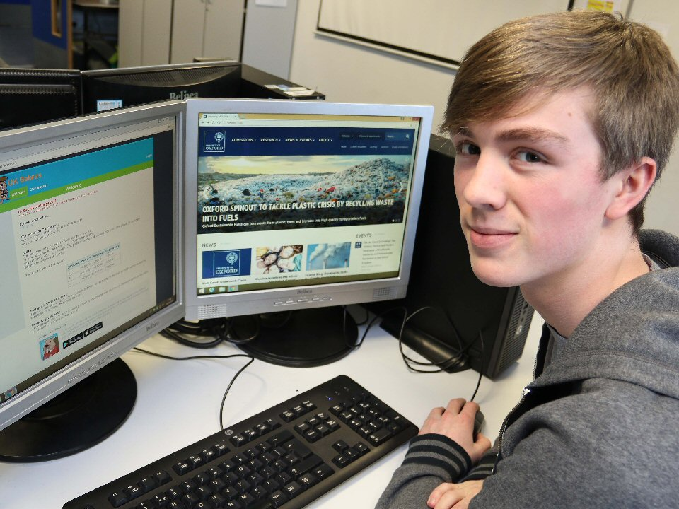 Richmond School and Sixth Form College student chosen to take part in computer challenge