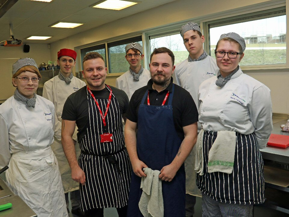Darlington College cookery students stage Food@TheGlasshouse