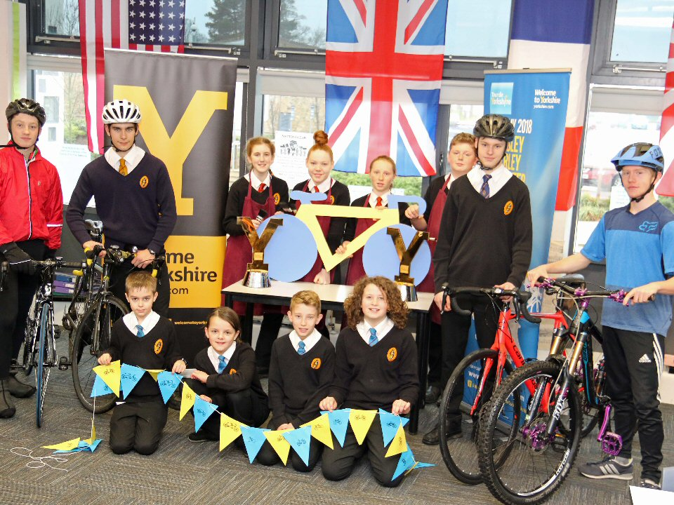 Richmond School and Sixth Form College cyclists get inspired for the Tour de Yorkshire