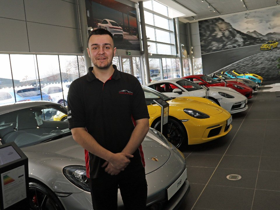 Darlington College student secures apprenticeship with Porsche