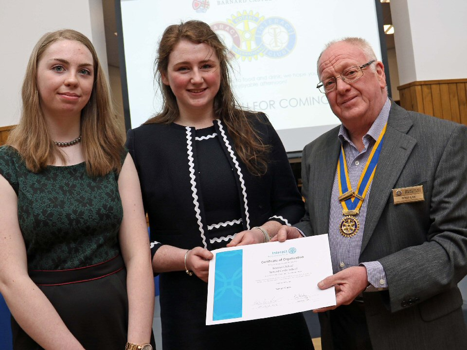 Barnard Castle School has becomes the latest to launch a Rotary Interact Club,