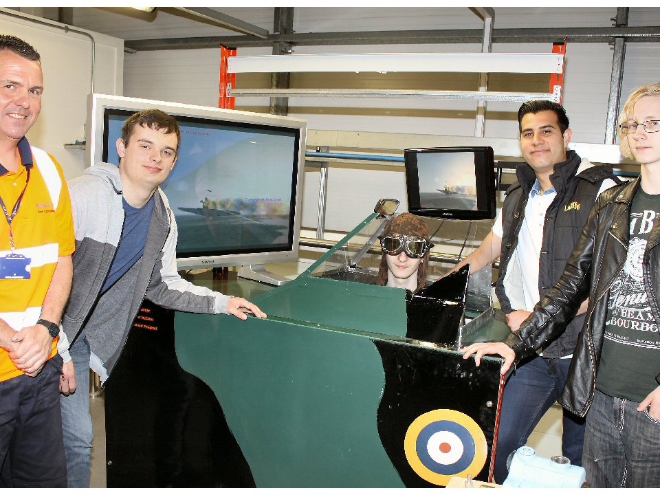 Darlington College engineers create interactive aircraft simulator
