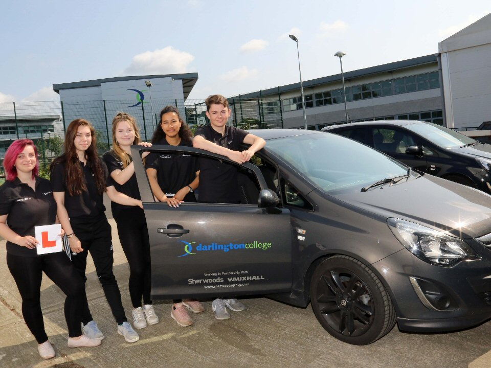 Darlington College students eligible for free driving lessons