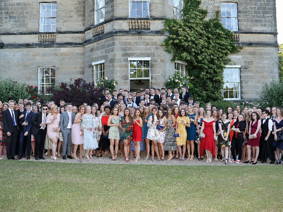 Year 13 students from Richmond School and Sixth Form College have a ball