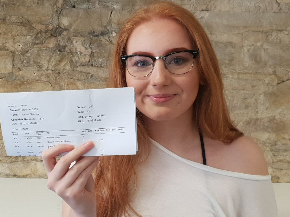 Richmond School and Sixth Form College student Chloe Woods lands RAF dream