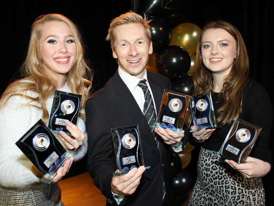 Former Year 11 pupils at Haughton Academy are praised by Olympian
