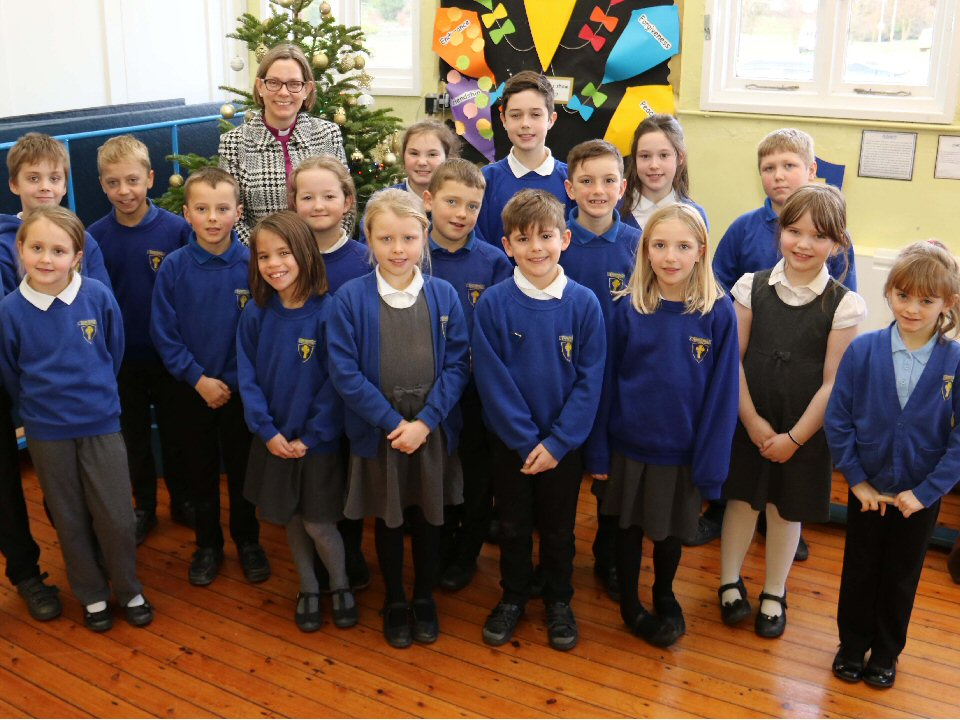 Bishop of Ripon visits pupils at Pickhill C of E Primary School
