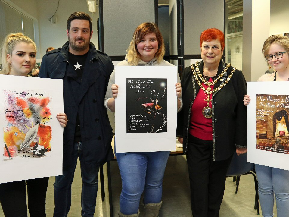 Students at Darlington College submit designs for mayor's charity ball