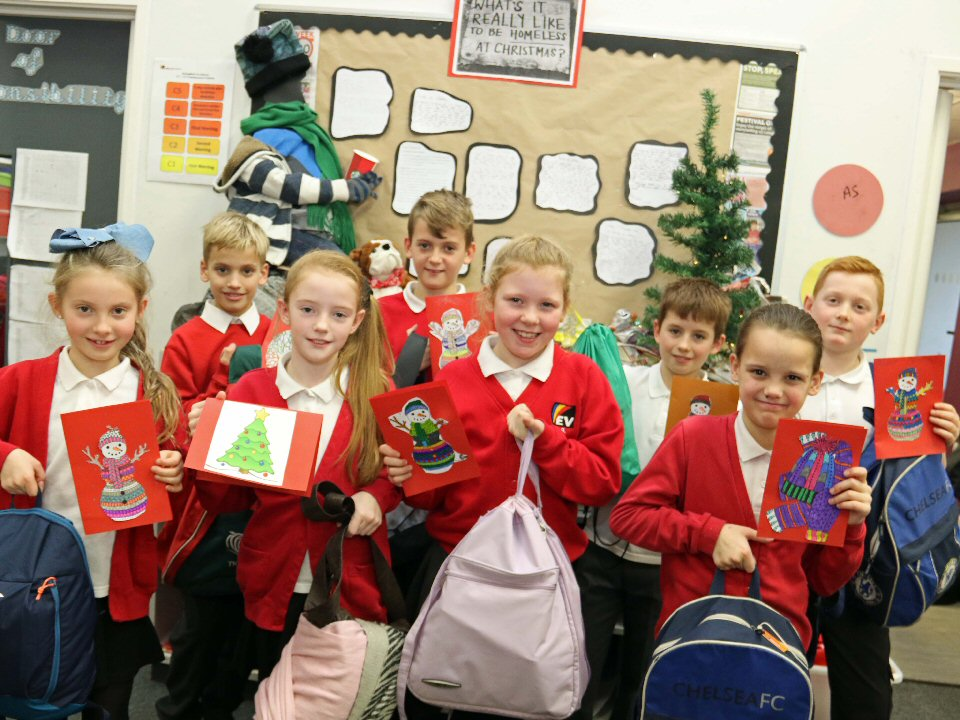 Springfield Academy pupils work with charity First Stop