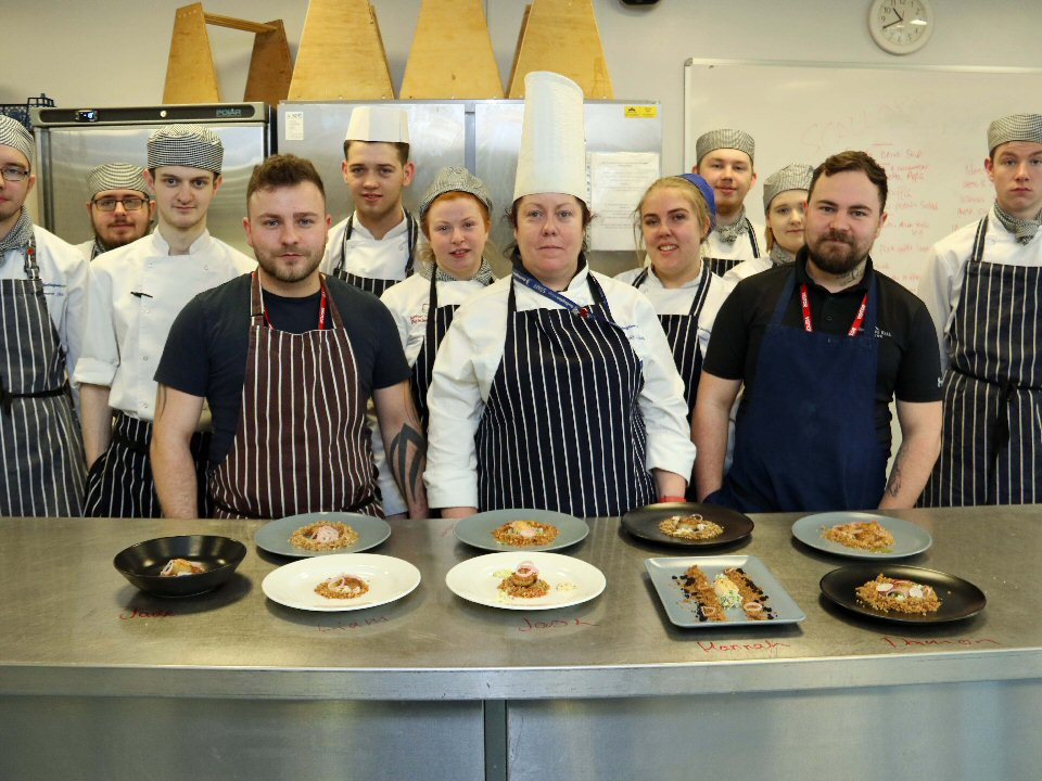 Brothers turn up the heat for catering students at Darlington College