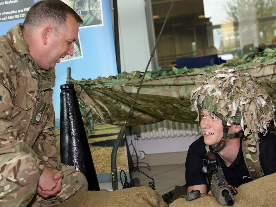 Darlington College gives students an insight into Army careers