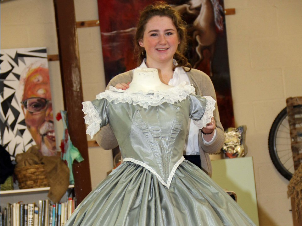 Hollywood dress inspired by Scarlett O'Hara takes centre stage